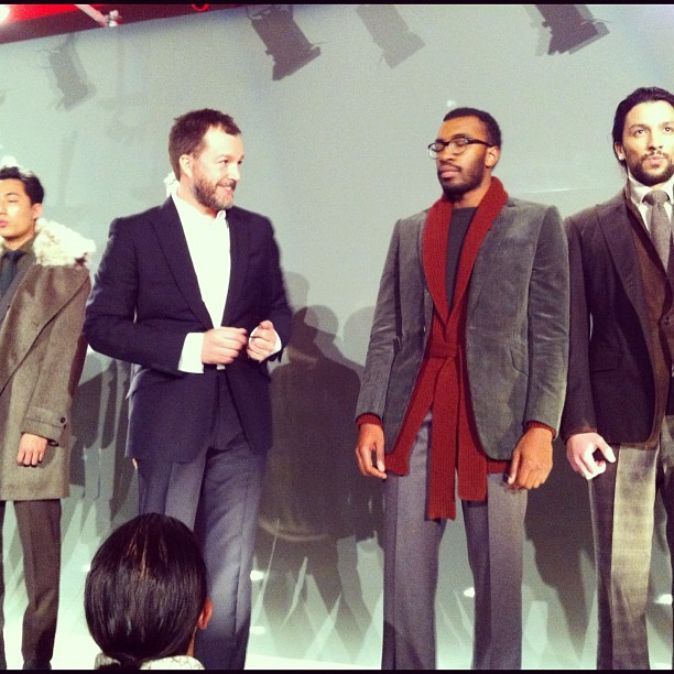 Clive Darby takes a bow at the #Rake finale #lfw #attheshows  (Taken with instagram)