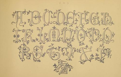 Just one more alphabet from The embroiderer's book of design….