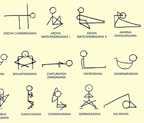 Stick figure yoga! And in good news that made my week: savasana is also core work!