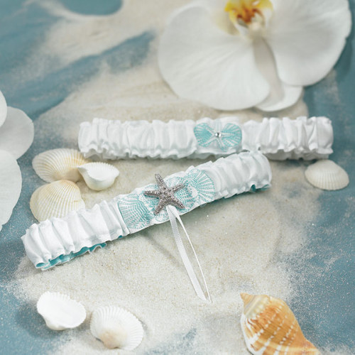Beach themed garter set! One to keep and one to throw. Click here for more details