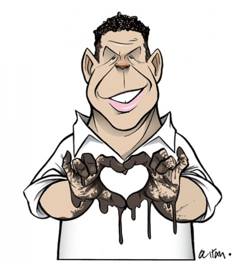 Ronaldo in love. Via