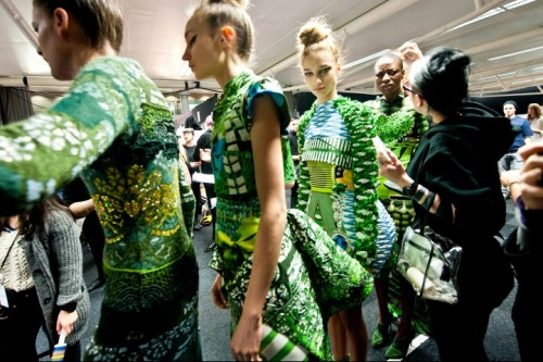 vogue:  BACKSTAGE: Mary Katrantzou Photographed by Evan Sung