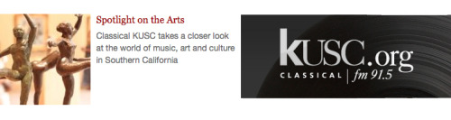 "This is a transcription of KUSC's Spotlight on the Arts, from February 20, 2012. In case you missed the original airing, you can always take a LISTEN on the KUSC podcast (episode archive) page. ""If Walls Could Talk. I'm Brian LauritzenPhotographer Rhona Bitner pays homage to iconic music venues in the exhibit, STATIC NOISE, now on view at the Cal State Long beach University Art Museum. Twenty-eight vibrant photos show the spaces in a variety of states, like Detroit's now deteriorating Grande Ballroom,  once home to big band music, later an influential punk rock club.  Bitner says she relies only on natural lighting when she shoots: The  photographs in a way are the artifacts. I think the real work is my  going. It's the physical act of standing there, and the photographs are  what I take away. The venues that are crumbling, that's the way they  are—it's about what I see that day when I'm there. STATIC NOISE: The Photographs of Rhona Bitner are on display at the Cal State Long Beach University Art Museum through April 15th. For information visit, csulb.edu.""For spotlight on the arts, I'm Brian Lauritzen."" In reading Rhona's words, it's clear that her relationship with the  spaces she photographs is a personal one, and that she would want  visitors to develop a similar bond with the as-is architecture she  carefully captures in her work. For more from Mr. Lauritsen, follow Brian on Twitter @BrianKUSC, or check out the KUSC Blog for behind the scenes looks at the Los Angeles Philharmonic and much more artsy stuff!"