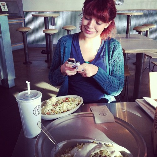 #bff #chipotle #lunch #yum #full #igdaily #ig #instagram #high  (Taken with instagram)