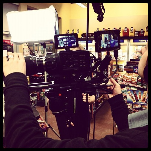 Shooting for Husky #sony #fs100 #cinevate #smallhd #dp4 (Taken with instagram)