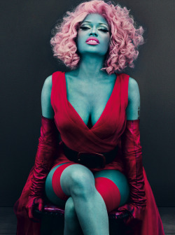 vogue:  Nicki Minaj Photographed by Steven Klein for the March Issue of Vogue  stunning colours!