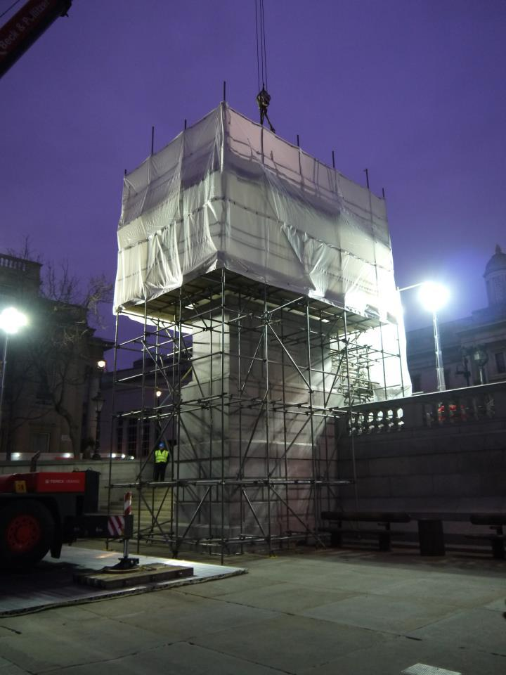 The unveiling of London's Fourth Plinth, 'Powerless Structures, Fig 101′ by Scandinavian artistic duo Elmgreen & Dragset starts tomorrow at 9:00am (GMT), in Trafalgar Square.