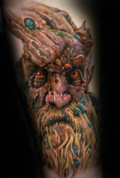 fuckyeahtattoos:  This is the beginning of a Lord of the Rings sleeve I'm starting with Kyle Miller at Cannibal Graphics in Oklahoma City.   EPIC, I hope to have a Treebeard one day.