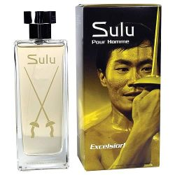 gamefreaksnz:  Smell Like Sulu Star Trek Sulu Pour Homme Excelsior! Cologne USD$27.99 Sulu Pour Homme, or Sulu For Men for those who are French-impaired, is the perfect cologne for the man who does everything, whether that be cataloguing exotic plants, collecting antique firearms, or piloting ancient helicopters and advanced starships. It's more than just choosing to live your life with style; Sulu dives straight to the soul and allows you to release your own Intergalactic Man of Mystery, that jaunty, fearless swashbuckler of a man who, whether he's wielding a rapier in a swordfight or commanding an Excelsior-class starship, is always ready for action. Oh my! 100 ml.