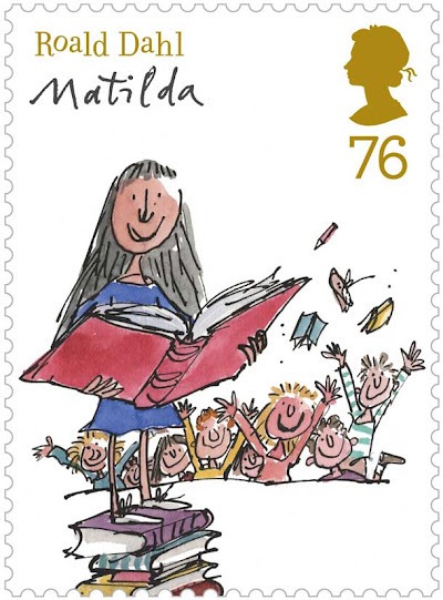 These stamps are glorious. Roald Dahl is one of my favourite childhood authors. But especially I love his spine-chillers. He has simply the best black humor.  wickedly dark humor galore.