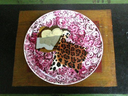 Bogdan Teodorescu: Plate, 2011, decal and painted porcelain, diam. c. 25 cm