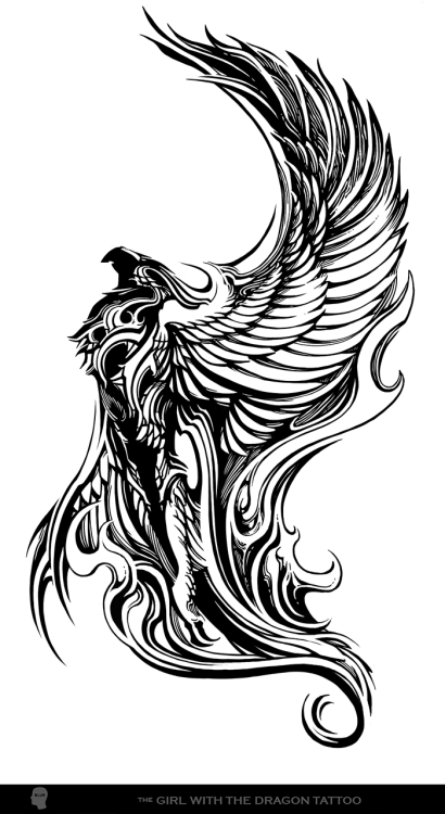 thehighroller5:  Lisbeth's phoenix tattoo, courtesy of Blur Studio.