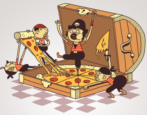 Pizz'a EightBecause eight slices and pirate treasure they are like the same sounding thing don't judge me it's for a weird challenge!