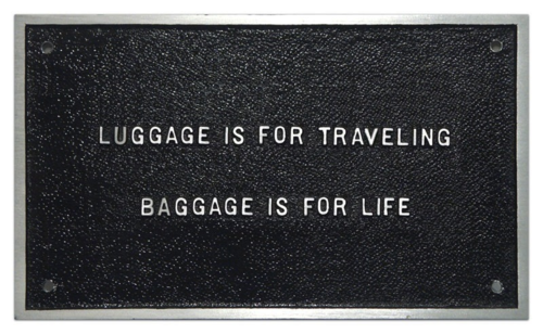 Travel lightly.