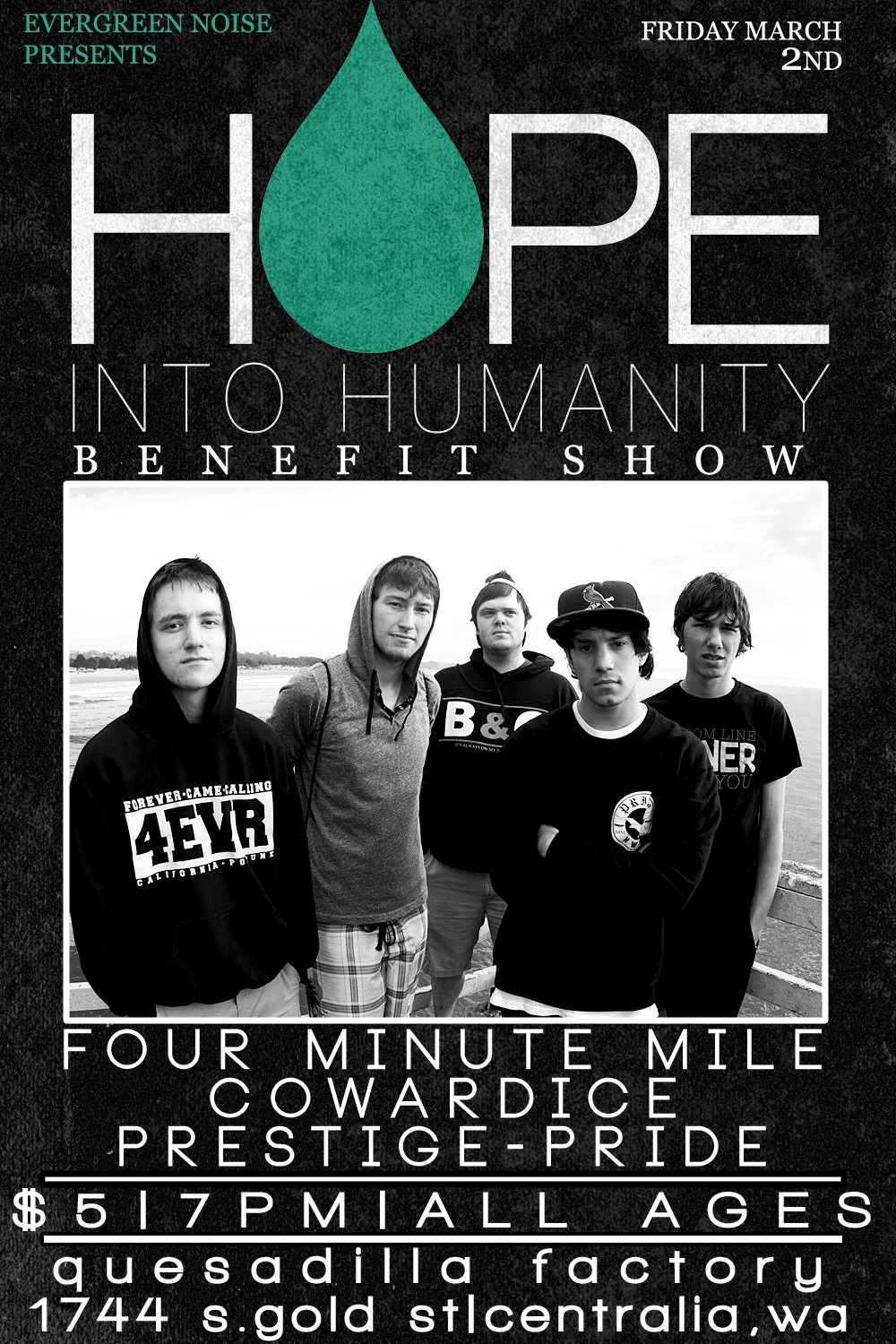 evergreennoise:  HOPE INTO HUMANITY BENEFIT SHOW is soon! RSVP HERE AND REBLOG PLEASE!  check out this benefit in Centralia, Washington tonight!