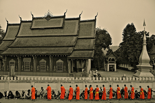 haleyfood:  Monks in Laos
