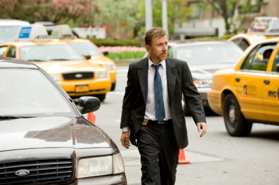On the set of Arbitrage playing Det. Michael Bryer. Looking very Lightman-esque. :)