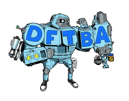 sharkeyejones:  a DFTBA robot I drew over a year ago.  But the color is new isn't it?
