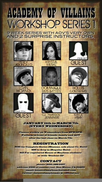 Come through to House of Mayhem tonight for @Rotten_Pharside Villain Series Workshop! And learn from one of the illest in the game!