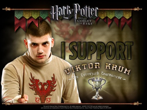 Hermione really did snog Viktor Krum. Lucky bitch.