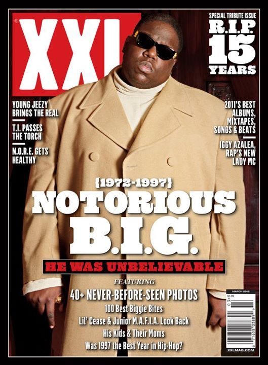 XXL MAGAZINE TRIBUTE COVER NOTORIOUS B.I.G.