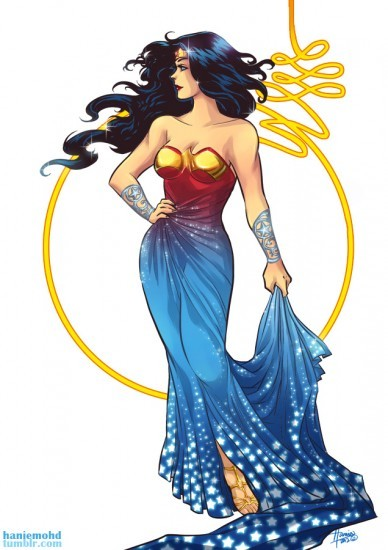 Wonder Woman gown redesign by Hanie Mohd