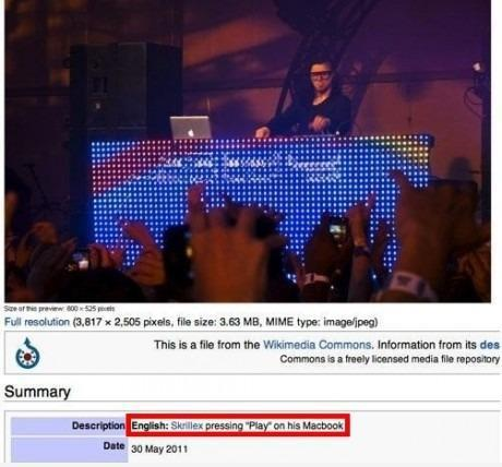 This is what Wikipedia thinks about Skrillex. LOL.