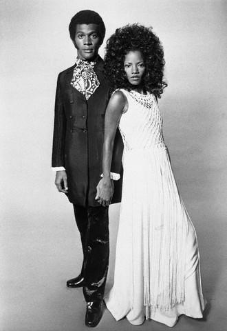 "vintageblackglamour:  Melba Moore and Clifton Davis, co-stars of ""The Melba Moore-Clifton Davis Show"" on June 7, 1972. In this clip from TV One's ""UnSung,"" Ms. Moore and Mr. Davis, who were in a relationship at the time, discuss the challenges they had in working on the show."