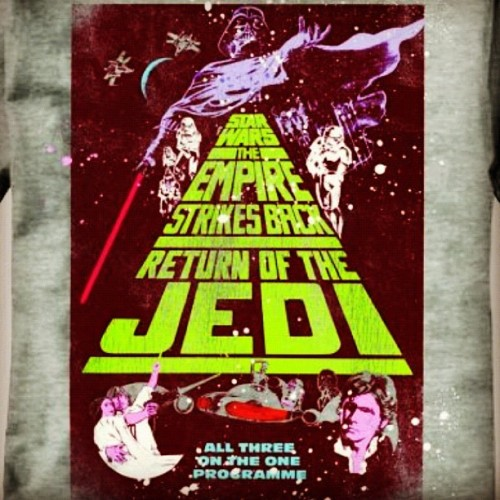 #StarWars #EmpireStrikesBack #ReturnOfTheJedi #TriplePlay #tshirt #TESB #ROTJ #geek #nerd  (Taken with instagram)