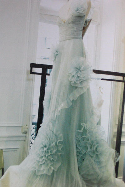 pale blue valentino wedding dress