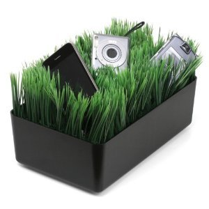 Kikkerland OR08-BK Grass Charging Station, Black  Click on the picture for more details