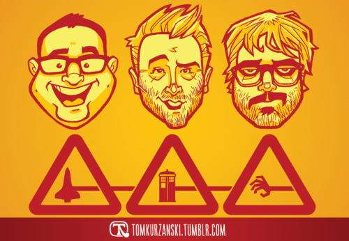 tomkurzanski:  The lovely folks at the Nerdist podcast featured my artwork for 'Hostful' episode #171: Lunch & Fighting.  (So good!)