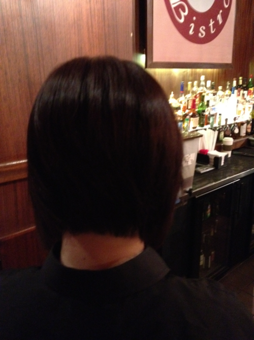 My coworker helped me take the pic of the back of my hair ;)