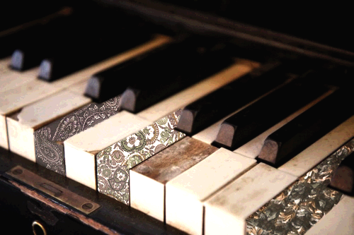 What if, a piano with white keys that have different textures, colours, yeahhh maybe low usability? but interesting!