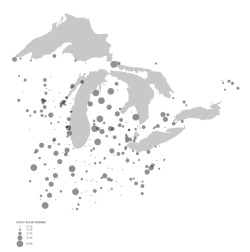 Landfill capacity around the great lakes