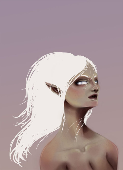Rework of this elf lady I did over the summer. I like it. I love reworks. yay!