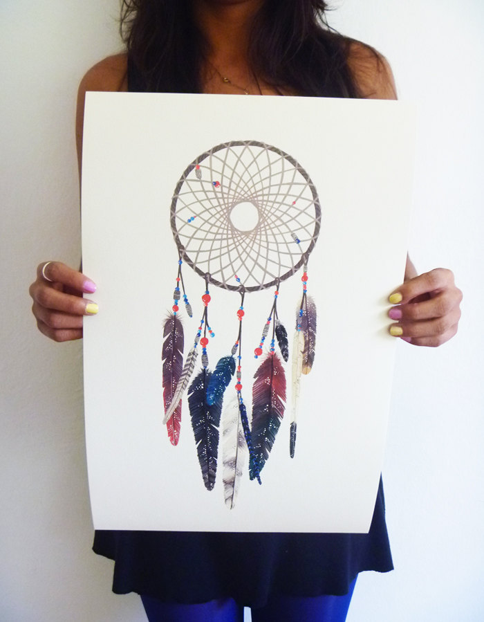 Dreamcatcher Print by anavicky