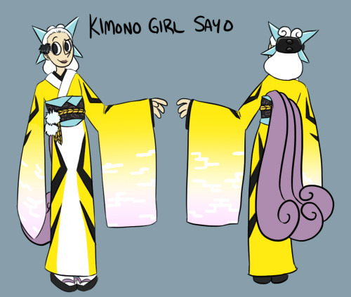 Got another Kimono Girl done— It's Sayo, the one with the Jolteon.  :)