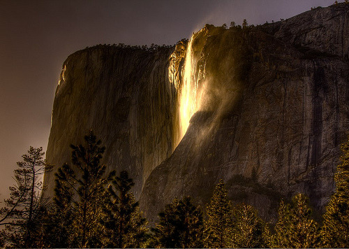 Horsetail Falls, Yosemite National Park, California, United States