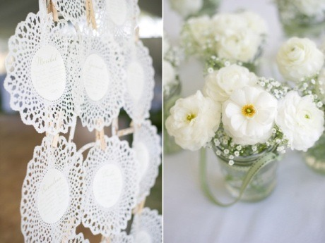 Pretty Doily seating cards