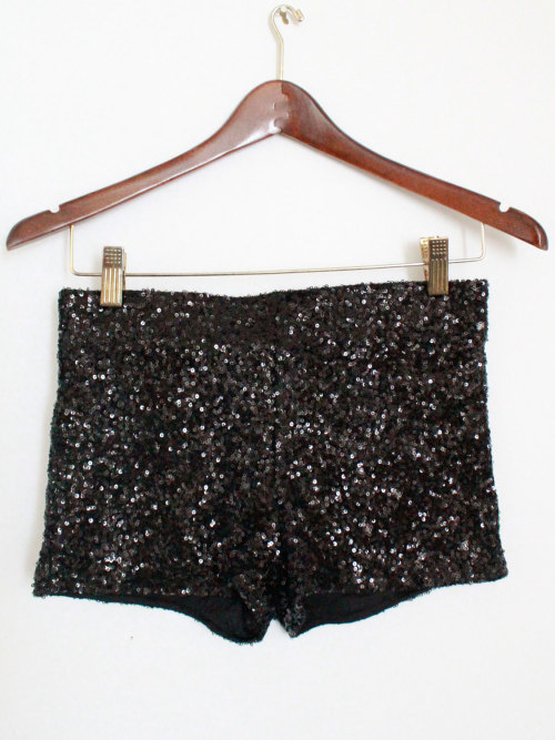 Black Sequin Shorts from Mickey's Girl
