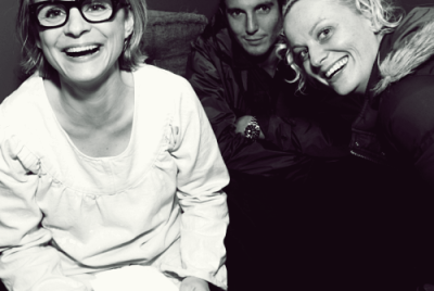 awesomepeoplehangingouttogether:  Amy Sedaris, Will Arnett and Amy Poehler