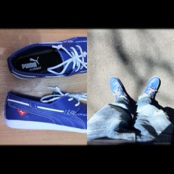 #PUMA's version ng sapatos na madaming ibat ibang tatak hehehe (Taken with Instagram at Magallanes Village, Makati)