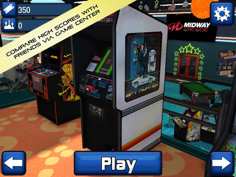 "Midway Arcade for iOS (iTunes link)  Includes 10 games!!! Spy Hunter, Rampage, Joust, Root Beer Tapper, Defender, and Arch Rivals. Plus 4 Arcade favorites: Air Hockey, Arcade Basketball, Pool, and Roll Ball. All your favorite arcade hits in the palm of your hand! Lose yourself in this virtual arcade experience featuring 12 popular arcade games from Midway presented in their original cabinet. There's even a jukebox that lets users play music from their iTunes library and a virtual prize redemption center!   They had me at ""Rampage."" (Even if the last four games are filler.) 99¢ for a limited time."