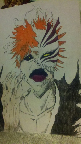 Ichigo drawing I did :D