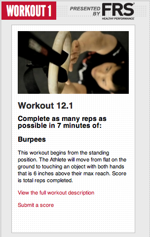I don't think many would have predicted a 7 minute Burpee AMRAP…  I hate Burpees