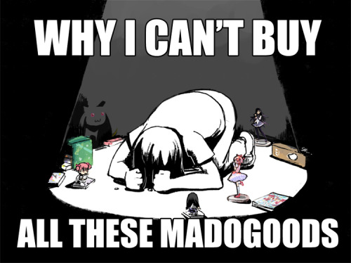 me want Madoka Portable limited edition box so bad. however… MY LOVE ISN'T ENOUGH.My money isn't enough *sob* Yeah, I have spent so much on Madogoods but….really, I can't buy them all. My wallet is screaming with agony now. This religion sure is scary, the Church of Madoka I mean.