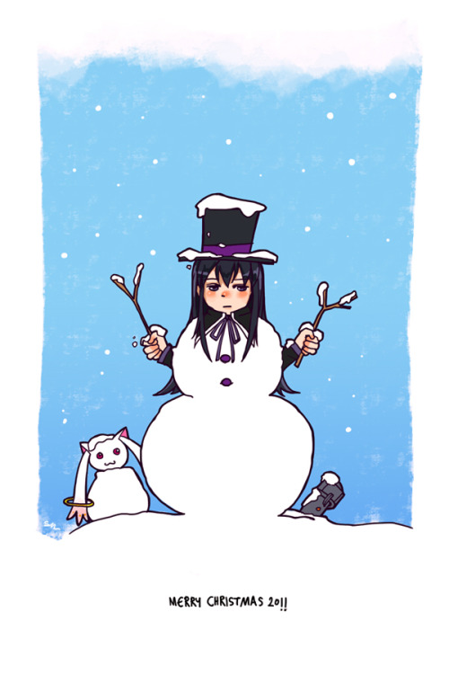 Homu, the snowman by *79Silver I planned to go visit Tokyo this Christmas.(trying to find some cheap ticket as of now) and guess what? Yesterday I heard that Madoka movie#1 will be released around September this year. Oh no god why it couldn't be December It's just a rumor, though.