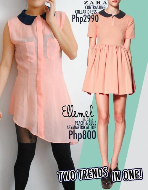 2 Trends In One: Sheer and Color Blocking!!   Get it now from Ellemel! Perfect addition to your summer wardrobe