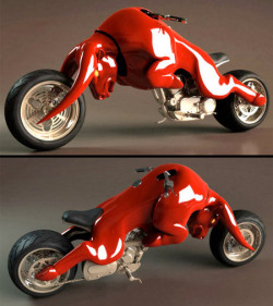 Red Bull theme motorcycle designed by Barrend Massow Hemmes